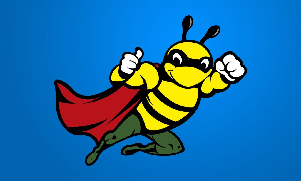 Bins Bee Clean Logo